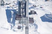 Die Schneehüenerstock-Gondelbahn anlässlich der offiziellen Eröffnung der Skiarena Andermatt Sedrun. Bild: Urs Flüeler/Keystone (14. Dezember 2018)