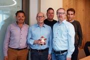 Harry Müntener, Herbert Bokstaller, Daniel Keusch, André Tschumper und Richard Wanger (von links) gehören dem Projektteam an. (Bild: Corinne Hanselmann)