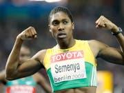 Zu männlich: Caster Semenya muss in Zukunft ihren Testosteronspiegel reduzieren, wenn sie weiterhin bei den Frauen über 800 und 1500 m laufen will (Bild: KEYSTONE/AP/ANJA NIEDRINGHAUS)