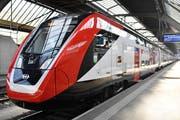 Der Fernverkehrs-Doppelstockzug FV-Dosto im Zürcher Hauptbahnhof. (Bild: Walter Bieri / Keystone, 1. Mai 2019)