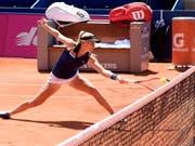Erfolgreich gekämpft: Jil Teichmann steht beim WTA-Turnier in Prag im Viertelfinal (Bild: KEYSTONE/ANTHONY ANEX)