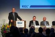 Bundesrat Guy Parmelin (SVP) fand lobende Worte für die Wirtschaft im Kanton Luzern Bild: Dominik Wunderli (Luzern, 1. Mai 2019)