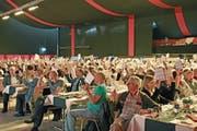 Heinrich Spoerry, Verwaltungsratspräsident der SFS Group, begrüsste an der Generalversammlung 971 Stimmberechtigte. (Bild: Bilder: Kurt Latzer)