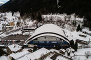 Das Eishockeystadion Valascia von Ambri. (Bild: Samuel Golay, 22. Dezember 2018)