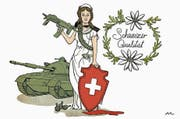 Karikatur zum Thema Waffenexporte (2014, «Bündner Tagblatt»). (Bilder: PD)