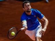 Marin Cilic konnte nicht zu seinem Viertelfinal gegen Novak Djokovic antreten (Bild: KEYSTONE/EPA EFE/JUANJO MARTIN)