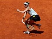 Belinda Bencic bot auch gegen Simona Halep eine über weite Strecken starke Leistung, zog gegen die Rumänin aber den Kürzeren (Bild: KEYSTONE/EPA EFE/CHEMA MOYA)