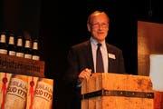 Ein gutgelaunter Schützengarten-Verwaltungsratspräsident: Christoph Kurer an einem der Kundenanlässe zum 240jährigen Bestehen der ältesten noch existierenden Brauerei der Schweiz. (Bild: PD)