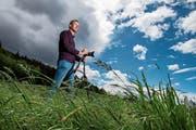 Stormchaser Andreas Schneeberger sucht dunkle Wolken – und findet diese meistens. (Bild: Eveline Beerkircher, Ebikon, 9. Mai 2019)