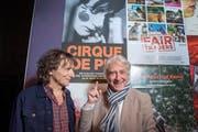Richard Hirzel (alias Clown Pic) und Emil Steinberger vor der St.Galler Premiere von «Cirque de Pic» im Kinok. (Bild: Urs Bucher - 29. März 2019)