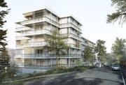 Der Neubau an der Würzenbachmatte. (Visualisierungen: Hanspeter Oester Reto Pfenninger Architekten AG, Zürich)