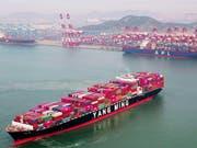 Anhebung von US-Sonderzöllen gegen China: Ab Freitag wurden die Zölle auf chinesische Güter im Wert von 200 Milliarden Dollar von 10 auf 25 Prozent erhöht. (Bild: KEYSTONE/AP CHINATOPIX)