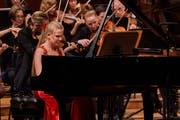 Die erst 15-jährige russische Pianistin Eva Gevorgyan bot stupende Virtuosität. (Bilder: Ingo Höhn/PD, 10. Mai 2019)