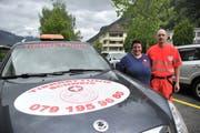 Marcel und Chiara Henzen stellten ihren Tierrettungsdienst Zentralschweiz vor. (Bild: Urs Hanhart, Altdorf, 11. Mai 2019)