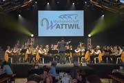 Die Musikgesellschaft Wattwil beim Muttertagskonzert. (Bild: Ruben Schönenberger)