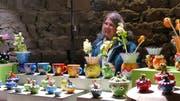 Am Schlossnachtmarkt wurden kunstvoll gearbeitete Gegenstände angeboten. (Bild: Esther Wyss)