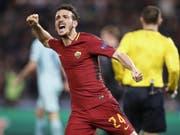 Alessandro Florenzi brachte die AS Roma auf Kurs (Bild: KEYSTONE/EPA ANSA/RICCARDO ANTIMIANI)