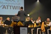 Die Musikgesellschaft Wattwil spielte am Sonntagmittag zum Muttertagskonzert auf. (Bild: Ruben Schönenberger)
