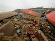 Der Zyklon «Fani», der vor zehn Tagen in Indien wütete, hat inzwischen 64 Todesopfer gefordert. (Bild: KEYSTONE/AP)