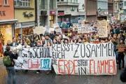 Im März gingen Hunderte Menschen in St.Gallen auf die Strasse. (Bild: Urs Bucher)