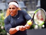 Serena Williams nahm am WTA-Premier-Turnier in Rom die erste Hürde (Bild: KEYSTONE/EPA ANSA/ETTORE FERRARI)