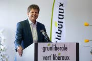 Ökothemen haben Hochkonjunktur: Das freut Jürg Grossen, den Präsidenten der GLP: (Bild: Peter Schneider/Keystone, Wangen an der Aare, 6. April 2019)