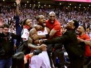 Kawhi Leonard entschied die Partie zwischen Toronto und Philadelphia in letzter Sekunde (Bild: KEYSTONE/AP The Canadian Press/FRANK GUNN)