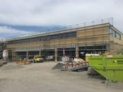 Das VBL-Depot in Root wird mit einem Jahr Verzögerung Mitte Dezember eröffnet. (Bild: PD/VBL, 23. April 2019)