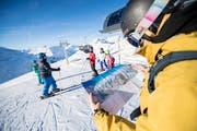 Wintersportler entdecken die neue Skigebietsverbindung. (Bild: PD)
