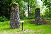 An diesem Platz im Bergell wurden 1795 zwei Brüder hingerichtet - Pferdediebe. (Bild: Thomas Widmer)
