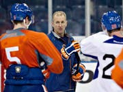 Ralph Krueger 2013 als Trainer der Edmonton Oilers (Bild: KEYSTONE/AP The Canadian Press/Jason Franson)