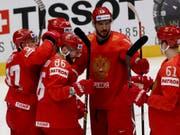 Die Russen konnten gegen Aufsteiger Italien gleich zehnmal jubeln (Bild: KEYSTONE/AP/RONALD ZAK)