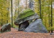 Der Erdmannlistein bei Bremgarten im Kanton Aarau gilt als Versteck der Zwerge. (Bild: Georg Aerne)