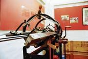 Diese Strickmaschine wurde 1931 von der Firma Dubied in Neuenburg gebaut. (Bild: Michael Hehli)