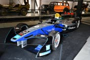 Das Formel-E-Auto im Verkehrshaus. (Bild: PD)