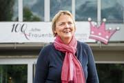 Präsidentin Priska Widmer freut sich über das Jubiläum des Frauenbunds Emmen. (Bild: Eveline Beerkircher, Emmen, 9. Mai 2019)