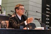Sprach im Luzerner Kantonsratssaal über sexuellen Missbrauch in der Kirche: Felix Gmür, Bischof des Bistums Basel. (Bild: Roberto Conciatori, 15. Mai 2019)