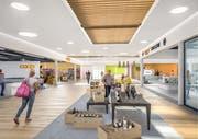 Der Mallbereich und die Flächen aller Läden werden neu gestaltet.