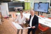 Zsuzsa Cserhati und Thomas Bucher eröffnen im Juni an der Bellevuestrasse in Hochdorf den Coworking Space 6280.ch. (Bild: Boris Bürgisser, 14.Mai 2019)