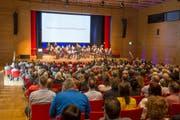 Gut 500 Gäste besuchten die Preisverleihung am Mittwochabend im Carmen-Würth-Saal in Rorschach. (Bild: Christof Sonderegger)
