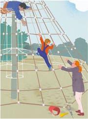 Kinder von Scheidungspartnern geraten schnell in einen Gewissenskonflikt. (Illustration: Rahel Nicole Eisenring)