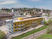 Der «Lattich»-Bau im alten St.Galler Güterbahnhof. (Bilder: PD/Hanspeter Schiess - 7. Mai 2019)