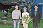 Martina Gadient wurde verabschiedet, Josef Gähwiler (rechts) und Marco Thoma einstimmig in den Vorstand gewählt. (Bild: Heidy Beyler)