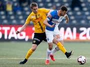 Gianluca Gaudino (links), hier gegen Dedim Bajrami, zeigte ein sehr gutes Spiel (Bild: KEYSTONE/ANTHONY ANEX)