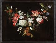Die kürzlich restaurierte Blumengirlande hat Rachel Ruysch (1664-1750) im Alter von 17 Jahren gemalt. Sie war die einzige Malerin des Goldenen Zeitalters, die in eine Malerzunft aufgenommen wurde. (Bild: Stefan Rohner)