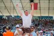 Andi Imhof gewann am letzten «Innerschweizerischen» in Uri, das 2015 in Seedorf stattfand. (Bild: Urs Flüeler/Keystone)