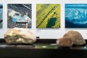 An der Sonderausstellung «Wasser» zeigt das Naturmuseum Luftaufnahmen – aber nicht nur. (Bild: Michel Canonica)