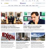 Das Nachrichtenportal von Bluewin will künftig vermehrt auch eigenständig recherchierte Beiträge publizieren. (Screenshot)