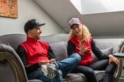 Nino Schurter über Jolanda Neff: «Zu sehen, dass Jolanda Spass am Leben hat, ist cool.» (Bild: Balz Weber)