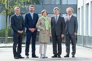 Die Professoren Ulrich Schmid, Thomas Zellweger, Monika Bütler, Bernhard Ehrenzeller und Peter Leibfried. (Bild. pd)